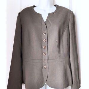 Talbots Italian Wool Button Up Blazer Jacket